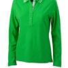 Ladies Polo Long Sleeved James & Nicholson - green