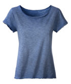 Ladies Slub T James & Nicholson - denim
