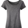 Ladies Slub T James & Nicholson - graphite
