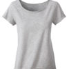 Ladies Slub T James & Nicholson - light grey