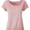 Ladies Slub T James & Nicholson - soft pink