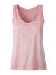 Ladies Slub Top James & Nicholson - soft pink