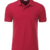Mens Basic Polo James & Nicholson - carmine red melange
