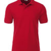 Mens Basic Polo James & Nicholson - red