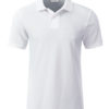 Mens Basic Polo James & Nicholson - white