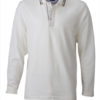 Mens Polo Long Sleeved James & Nicholson - off white