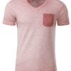 Mens Slub T James & Nicholson - soft pink