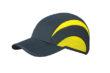 5 Panel Sports Cap James & Nicholson - iron grey lemon