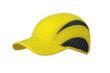 5 Panel Sports Cap James & Nicholson - lemon iron grey