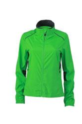 Ladies Performance Jacket James & Nicholson - green iron grey