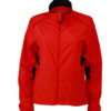 Ladies Performance Jacket James & Nicholson - tomato black