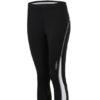 Ladies Running Medium Tights James & Nicholson - black white