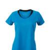 Ladies Running T Shirt James & Nicholson - atlantic black