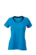 Ladies Running T Shirt James & Nicholson - atlantic black