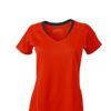Ladies Running T Shirt James & Nicholson - grenadine iron grey