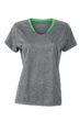 Ladies Running T Shirt James & Nicholson - grey melange green