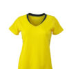 Ladies Running T Shirt James & Nicholson - lemon iron grey
