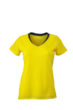 Ladies Running T Shirt James & Nicholson - lemon iron grey