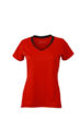 Ladies Running T Shirt James & Nicholson - tomato black