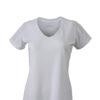 Ladies Running T Shirt James & Nicholson - white white