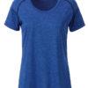Ladies Sports T Shirt James & Nicholson - blue melange navy