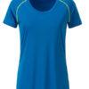 Ladies Sports T Shirt James & Nicholson - bright blue bright yellow