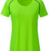 Ladies Sports T Shirt James & Nicholson - bright green black