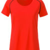 Ladies Sports T Shirt James & Nicholson - bright orange black