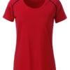 Ladies Sports T Shirt James & Nicholson - red black