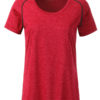 Ladies Sports T Shirt James & Nicholson - red melange titan