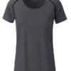 Ladies Sports T Shirt James & Nicholson - titan black