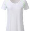 Ladies Sports T Shirt James & Nicholson - white bright green