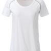 Ladies Sports T Shirt James & Nicholson - white silver