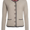 Ladies Traditional Knitted Jacket James & Nicholson - beige anthracite melange red