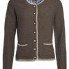 Ladies Traditional Knitted Jacket James & Nicholson - brown melange beige royal