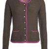 Ladies Traditional Knitted Jacket James & Nicholson - brown melange purple purple