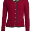Ladies Traditional Knitted Jacket James & Nicholson - red anthracite melange green