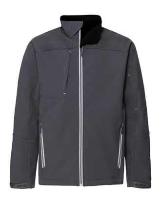 Mens Bionic Softshell Jacket Russell - iron grey
