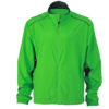 Mens Performance Jacket James & Nicholson - green iron grey