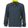 Mens Performance Jacket James & Nicholson - iron grey lemon