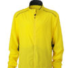 Mens Performance Jacket James & Nicholson - lemon iron grey