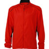 Mens Performance Jacket James & Nicholson - tomato black