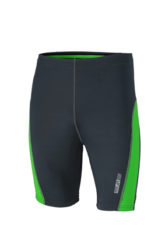 Mens Running Short Tights James & Nicholson - iron grey green