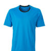 Mens Running T Shirt James & Nicholson - atlantic black