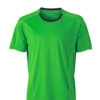 Mens Running T Shirt James & Nicholson - green iron grey