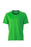 Mens Running T Shirt James & Nicholson - green iron grey