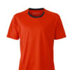 Mens Running T Shirt James & Nicholson - grenadine iron grey