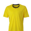 Mens Running T Shirt James & Nicholson - lemon iron grey