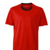 Mens Running T Shirt James & Nicholson - tomato black