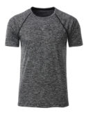 Mens Sport T Shirt James & Nicholson - black melange black